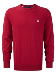 Henri Lloyd Moray Crew Neck Pull Over Jumper Red