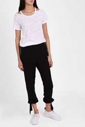 Raquel Allegra Ankle Tie Trousers Black