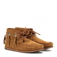 Saint Laurent Suede Moccasins Tan