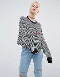 The Ragged Priest Doomed Long Sleeve Stripe Top Multi