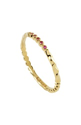 Lagos 'Covet' Stone Stack Ring Gold Pink Sapphire
