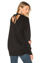 Edit Tie Back Knit Sweater Black