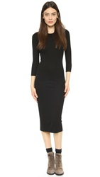 Enza Costa Ribbed Dress Black