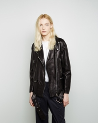 Acne Studios More Lightweight Leather Jacket Black