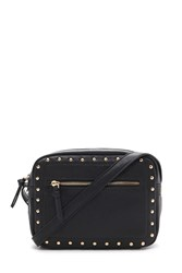 Forever 21 Studded Faux Leather Crossbody Black