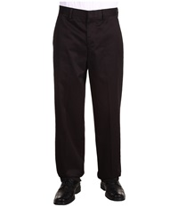 Dockers Signature Khaki D4 Relaxed Fit Flat Front Black Men's Dress Pants
