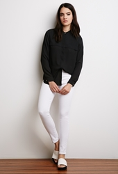 Forever 21 Classic Skinny Jeans White