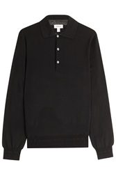 Brioni Wool Pullover With Silk Black