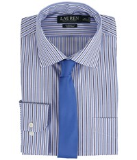 Lauren Ralph Lauren Striped Oxford Spread Collar Classic Button Down Shirt Blue White Navy Men's Long Sleeve Button Up