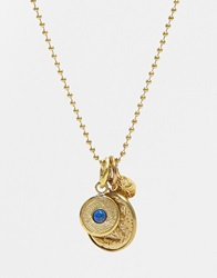 Mirabelle Lapis Pendant With Turtle Coin Charm