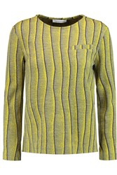 J.W.Anderson Striped Wool Blend Top Yellow