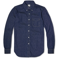 Orslow Button Down Chambray Shirt One Wash
