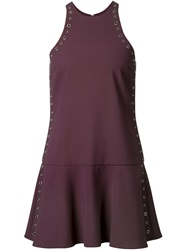 Elizabeth And James Eyelet A Line Dress Pink And Purple