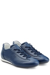 Hogan Leather Sneakers Blue