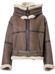 G.V.G.V. 'Aviator' Jacket Brown