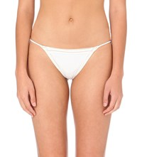 La Perla Summer Chain Tie Up Bikini Bottoms White Gold