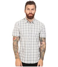Quiksilver Everyday Check Short Sleeve Woven Snow White Men's Clothing