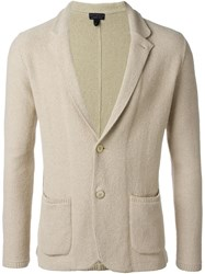 Lardini Notched Collar Cardigan Nude And Neutrals
