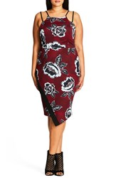 City Chic Plus Size Women's L'amour Floral Print Dress