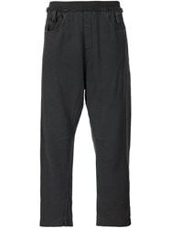 Haider Ackermann Cropped Lightweight Trousers Black