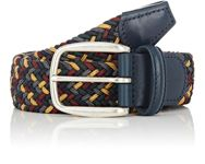 Barneys New York Men's Braided Elastic Belt Multi