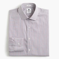 J.Crew Thomas Mason For Ludlow Shirt In Mini Tattersall Burgundy