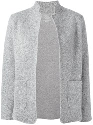 Majestic Filatures Patch Pockets Ribbed Blazer Grey