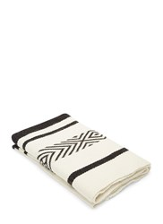 Voz Comunidad Long Two Tone Jacquard Wrap Scarf White