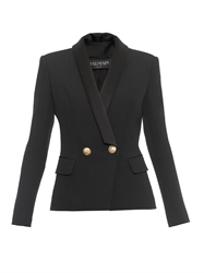 Balmain Shawl Lapel Double Breasted Blazer