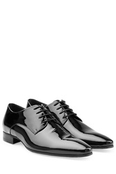Dsquared2 Patent Leather Pointed Toe Brogues Black