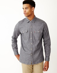 Levi's Worker Fray Shirt Wrap Neppy Denim