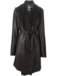 Lost And Found Leather Coat Black