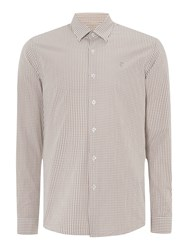 Peter Werth Ellington Cut Gingham Shirt Sand