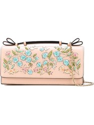Red Valentino Beaded Crossbody Bag Pink And Purple