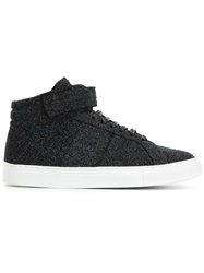 National Standard Glitter High Top Sneakers Black