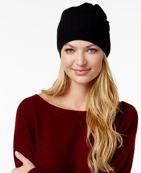 Charter Club Cashmere Ribbed Hat Only At Macy's Classic Black