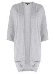 Warehouse Rectangle Cardigan Light Grey
