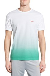 Hugo Boss Men's Green 'Flag 2' Ombre Graphic T Shirt
