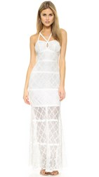 Ali And Jay Keyhole Lace Gown White