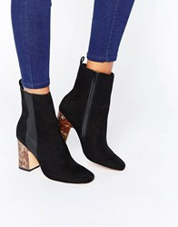 Asos Ezra High Ankle Boots Black
