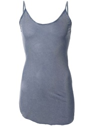 Lost And Found Cut Out Detail Fitted Cami Top Blue