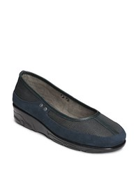 Aerosoles Neutron Suede Mesh And Leather Loafers Dark Blue Combo