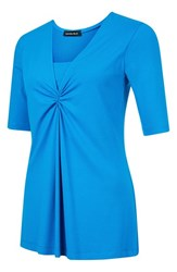 Isabella Oliver Women's 'Hadlow' Maternity Nursing Top Peacock Blue