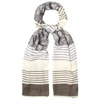 White Stuff Twilight Jacquard Scarf Multi