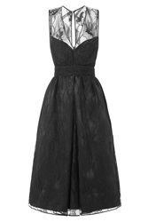 Rochas Cocktail Dress With Lace Black