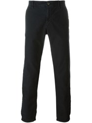 Incotex Straight Leg Trousers Blue