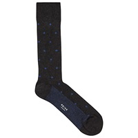 Reiss Jasper Spot Socks Charcoal