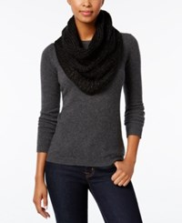 Bcbgeneration Thick And Thin Infinity Loop Scarf A Macy's Exclusive Style Black