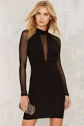 What A Mesh Mini Dress Black