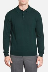 Nordstrom Merino Wool Polo Sweater Green